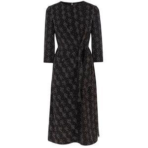 Warehouse Synthetic Twist Knot Snake Print Dress